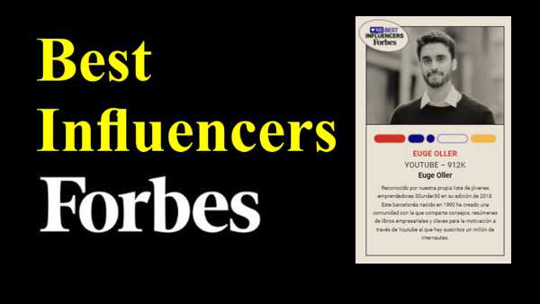 BEST INFLUENCER BY FORBES 2021